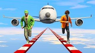 RUNNERS vs. GIANT JET PLANES! - GTA 5 Funny Moments