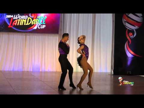 EDWARD SAMBRANO & MIKAILA ZUNIGA, LOS ANGELES, AMATEUR BACHATA COUPLE, FINAL ROUND, WLDC 2014
