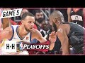 Stephen Curry Vs Chris Paul DUEL Full Game 5 Highlights Warriors Vs Rockets 2018 NBA Playoffs WCF mp3