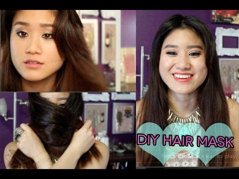 DIY Hair Mask For Shiny Thick Hair | Get Rid Of Dry Damaged Hair | DIY ...