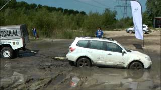 Subaru Forester In Mud Spaarnwoude Subaru Event 2014