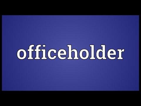 Header of officeholder