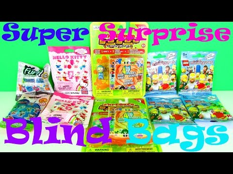 Super Surprise Blind Bag Toys Opening With Furby Mashems, Hello Kitty, Lego Simpsons, LPS & Gogo's