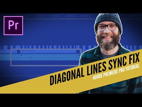 Diagonal Lines Sync Fix II Adobe Premiere Pro Tutorial