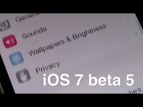 iOS 7 beta 5: 10 new features