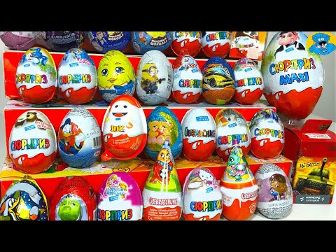 Peppa pig dora the explorer kinder surprise eggs with cars 2 play doh and barbie violetta 3 have fun to unbox kinder
