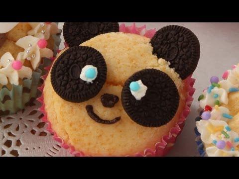 How To Make Panda Cupcakes パンダのカップケーキレシピ【簡単かわいいキャラ弁の作り方】
