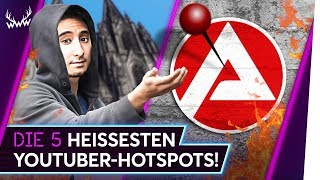 Die 5 HEISSESTEN YouTuber-Hotspots! | TOP 5