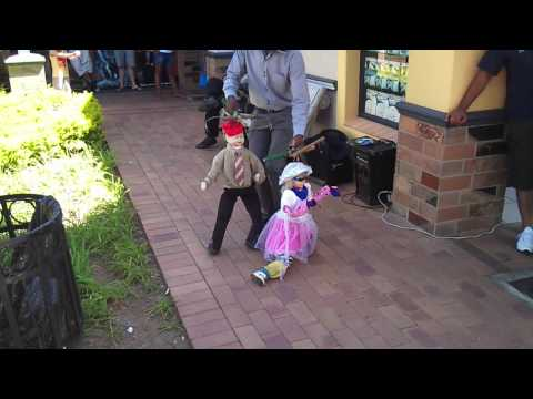 South African Traditional Dancing Puppet Master! video