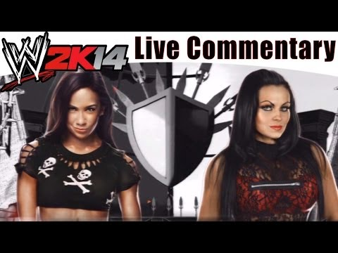 PS3 WWE 2K14 Gameplay Cage Match AJ Lee vs Aksana 2 Player Live Dual Commentary!