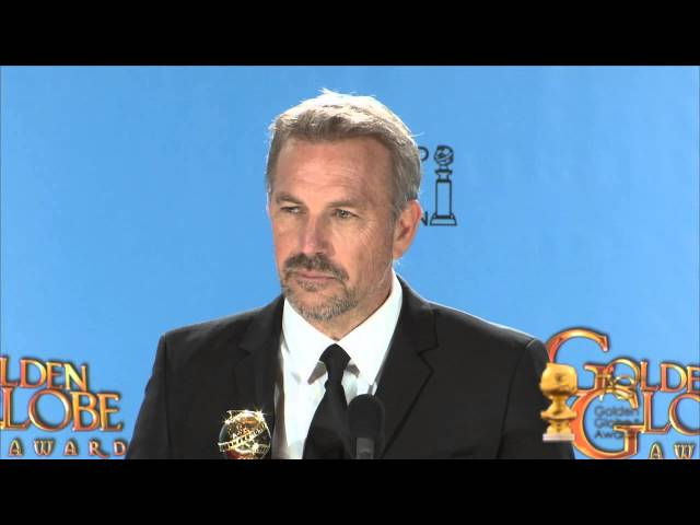 Backstage with Kevin Costner, best actor in a mini series