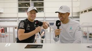 Mercedes' Lewis Hamilton & Valtteri Bottas | F1 Grill the Grid