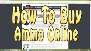 How To Buy Ammo Online