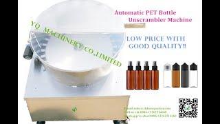 bottle unscrambler machine for plastic pet bottles sorting system machine de tri de bouteilles