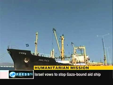 Israel Threatens Flotilla Aid Ship for Gaza