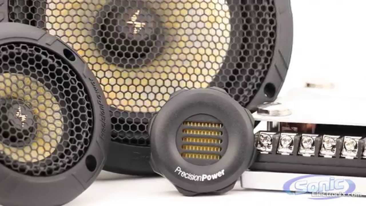 Precision Power P65c3 3-way Component Speakers W   Amt Tweeters