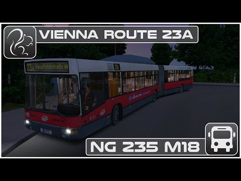 OMSI 2 - Vienna Route 23a (NG235 M18 Bendy Bus)