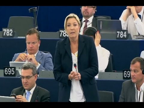 Marine Le Pen vote contre Juncker