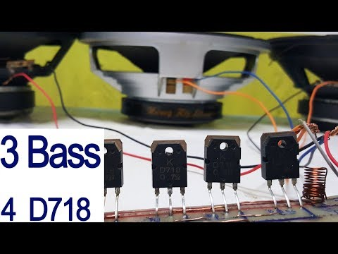 How to make a simple amplifier, make a easy amplifier  4 powerful transistors