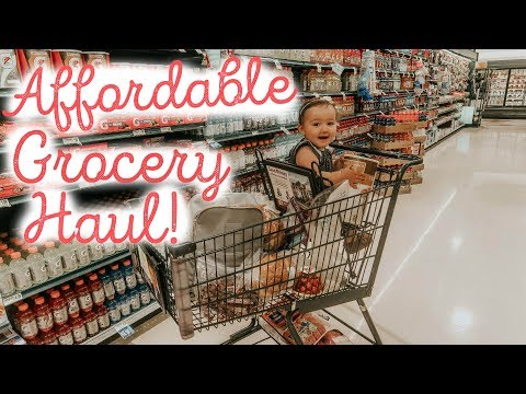 GROCERY HAUL ON A BUDGET + WEEKLY MEAL PLANNING | Hayley Paige