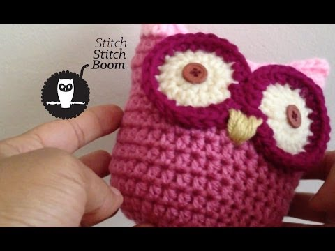 Free Crochet Pattern Small Owl : Crochet Tutorial: Pudgy Little Owl - YouTube