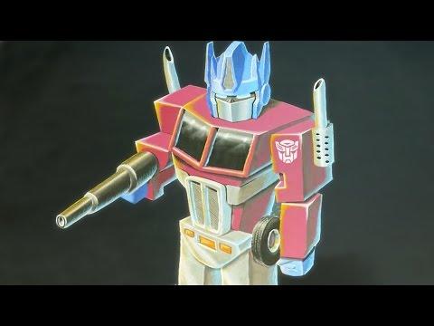 Transformers: Optimus Prime 3D Chalk Art