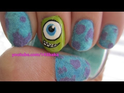 Monsters Inc. Velvet Nails