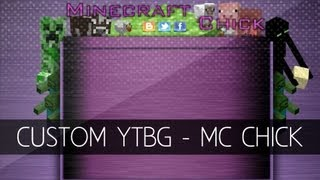 Minecraft Chick - Custom YouTube Partner Background!