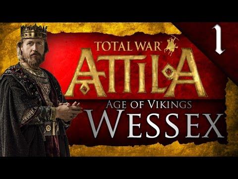 TOTAL WAR: ATTILA - AGE OF VIKINGS - KINGDOM OF WESSEX CAMPAIGN EP. 1 - KILLING HALFDAN!