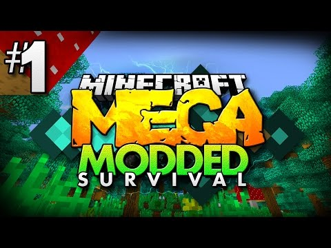 Minecraft MEGA Modded Survival #1   OVER 200+ MODS TO EXPLORE! - Minecraft Mod Pack