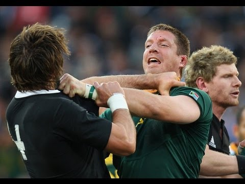 Insane rugby FIGHT South African vs All Black FIGHT