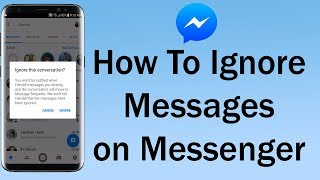 How To Ignore Messages on Messenger
