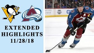 Pittsburgh Penguins vs. Colorado Avalanche   EXTENDED HIGHLIGHTS   11/28/18   NHL   NBC Sports