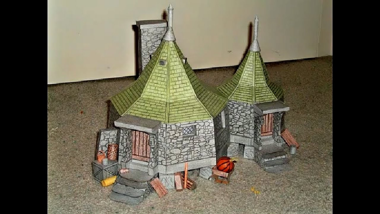 Paper Model Of Hagrid S Hut From The Wizarding World Of