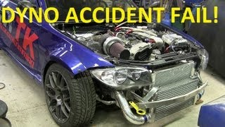 BMW E82 S54 Turbo DYNO ACCIDENT !