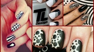 Black and White Nail Art Designs -  25  Easy Nail Art Ideas