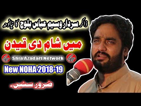 Zakir Waseem Abbas Baloch New Noha 2018-19