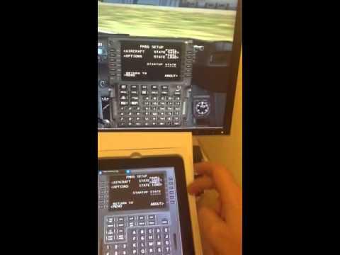 FSX Virtual CDU NGX App Demo
