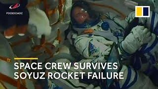 Space crew survives Russian rocket failure