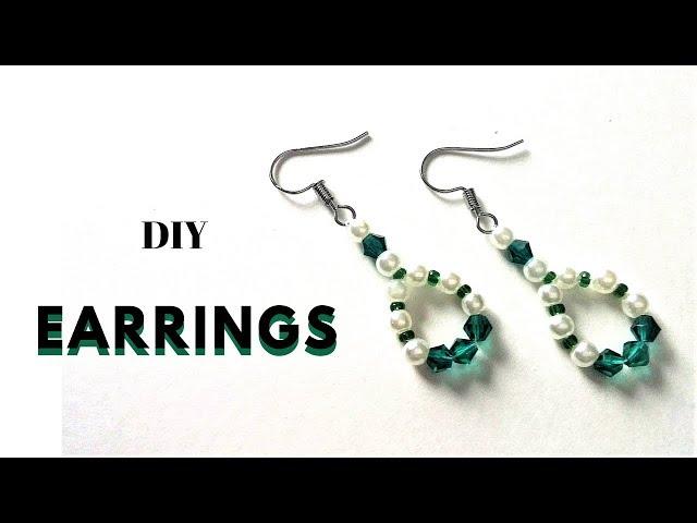 5 MINUTES DIY Earrings. Beading tutorial - how to make earrings