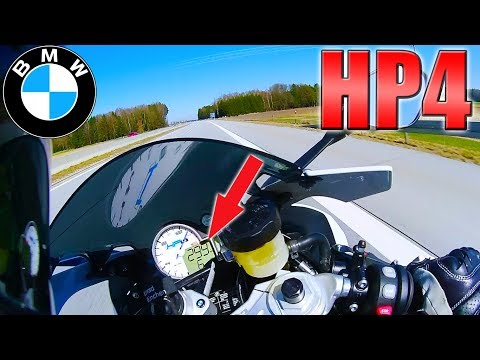 CRAZY! BMW HP4 Competition (0-300km/h+) TOP SPEED on German Autobahn!