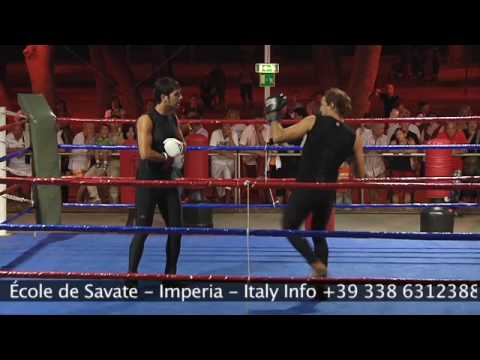 (1/2) Savate TECHNIQUES AVANCEES gant d'argent dmonstration andora memorial rocchetti Image 1
