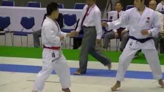 JKA2015 All Japan Kumite Final Nemoto vs Haga 男子組手決勝 根本敬介 vs 芳賀裕介
