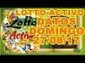 DATOS LOTTO ACTIVO DOMINGO 27 AGOSTO DE 2017 27 08 17 mp3