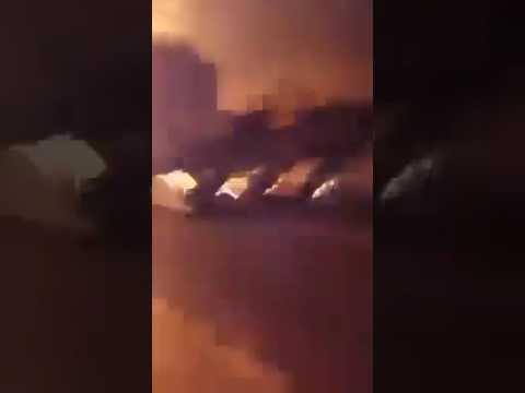 فيديو: غارات قوات التحالف على مقر الأمن القومي في مدينة صنعاء القديمة