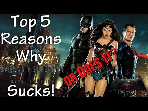 Top 5 Reasons Batman v Superman: Dawn of Justice Sucks! ...or Does It? thumbnail