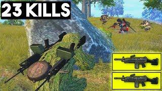 DOUBLE MACHINE GUN IS BROKEN!! | 23 KILLS | PUBG Mobile 🐼