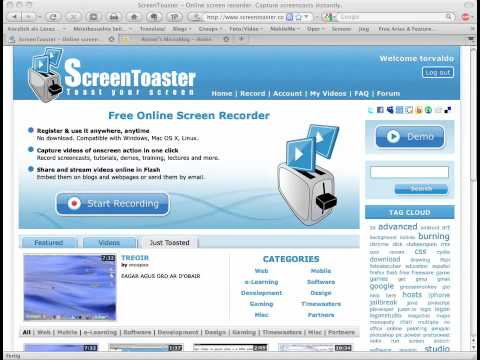 Screencasting mit ScreenToaster