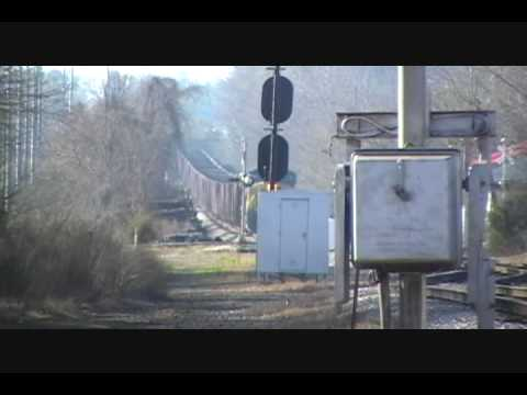 CSX Northbound Gravel Train Through La Grange, Ga
