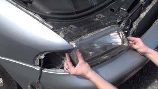 Change or remove headlights on a Audi A4 b5
